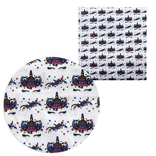 XUCZHAI Cuero Sintetico Patchwork de Tela de algodón de poliéster Impreso de 50 * 140 cm para los Arcos de Pelo Bolsas, Bricolaje Materiales Hechos a Mano Polipiel para Tapizar (Color : 1088702001)