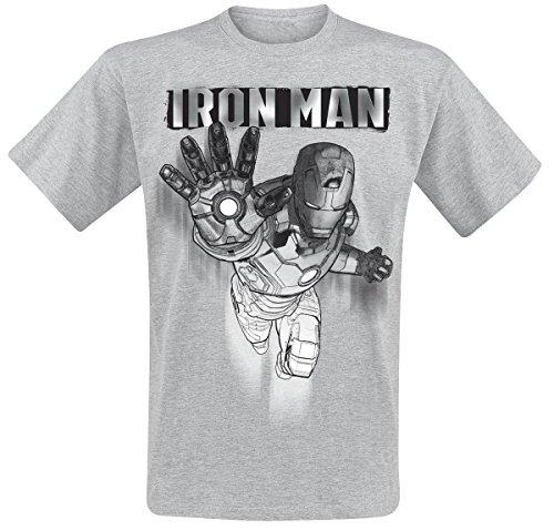 Iron Man Tekening T-Shirt grijs L