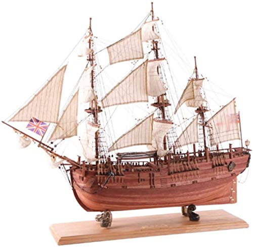 Decoraciones para la Sala de Estar Modelo de velero de Madera Sapele Simulacin Color de Madera Barco Adornos de Escritorio Coleccin de artesanas Hechas a Mano Simples Sala de Estar Dormit
