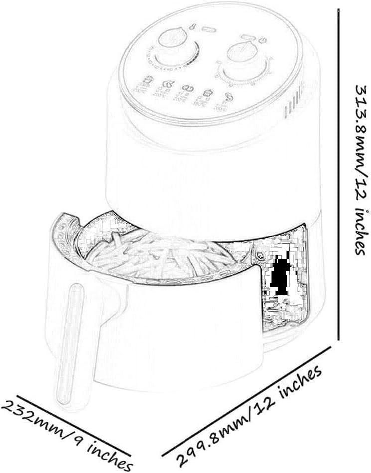 Huishouden Air Fryer, automatische olievrije anti-aanbakpan, automatische timering/temperatuurregelfunctie, gezond vetarm koken (kleur: zwart) wit