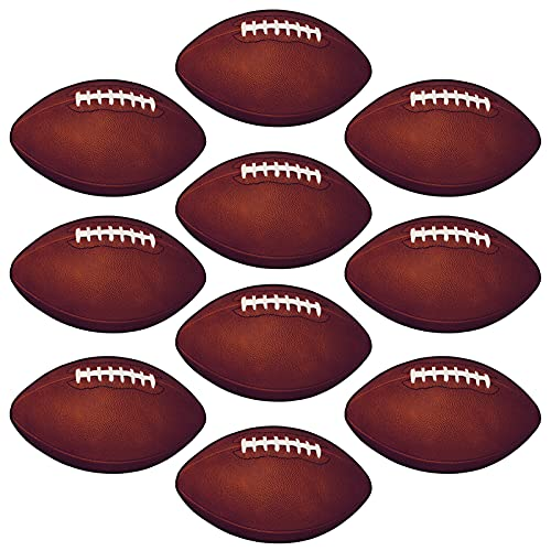 Beistle 10-Pack Miniature Football Cutouts for Parties, 4-1/2-Inch