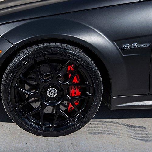 "19"" HRE Wheels FF01 Flow Form Black Concave Rims Only Set Of 4 Includes Vibe Motorsports License Plate Frames Fits Mercedes W205 C63 Amg"