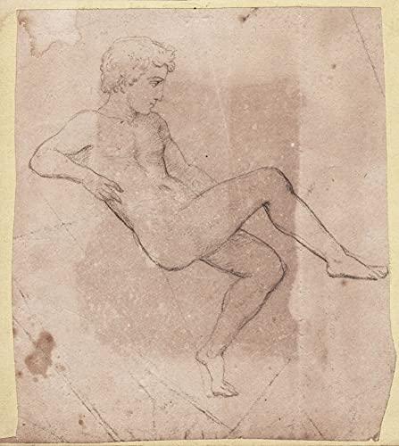 (Nude man) - nude male nu homme Akt Mann naked man dessin