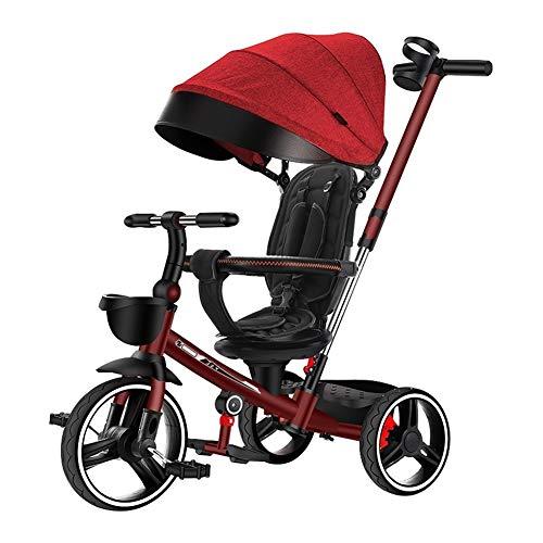 GYF Bicicleta De Bebé Carro Infantil Triciclo Plegable 4 En 1 Multifuncional...