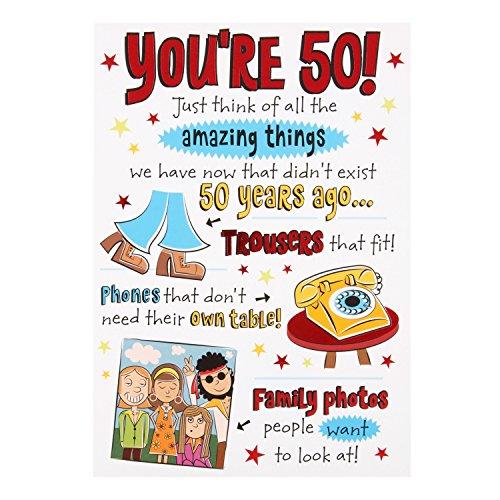 Hallmark 50th Birthday Card. Amusing 50 Years Ago Card