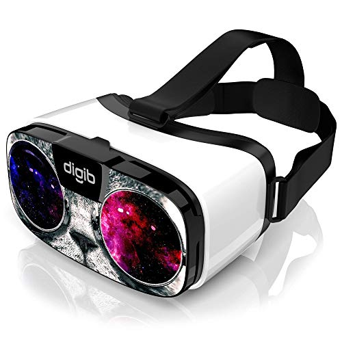 VR Headset for iPhone and Android Phones - Virtual Reality Goggles | Comfortable & Adjustable VR Glasses | Play Your Best Mobile 3D Games 360 Movies - Great Gift for Kids and Adults | Space Cat