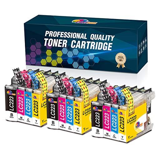 Clorisun LC223 - Cartuchos de tinta para Brother LC223 LC221 (negro, cian, magenta y amarillo) para Brother MFC J4420DW J880DW J5320DW J4620DW J480DW J4625DW J5625DW J680DW DCP J4120DW J562DW)
