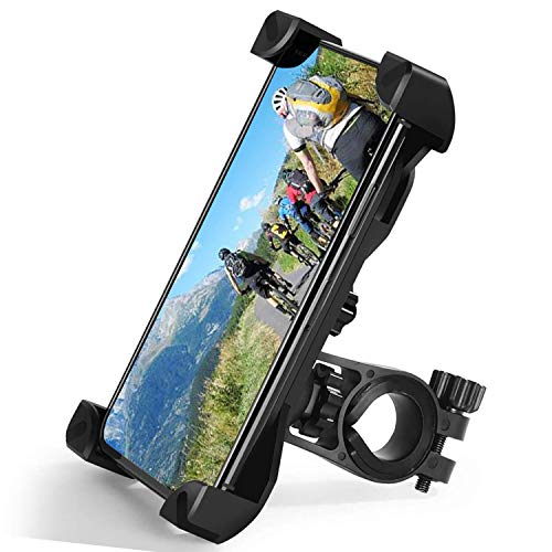 Zommuei Soporte Movil Bici, Soporte Movil Moto Universal 360°Rotación Anti Vibración Porta Telefono Motocicleta Montaña Soporte para iPhone Samsung LG HTC Motorola Xiaomi GPS y Otro 4.5-7.0' Móvil