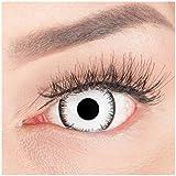 Farbige Mini Sclera Halloween Kontaktlinsen 'Lunatic' - 17mm MeralenS Horror Lenses inkl. Behälter - 1Paar (2 Stück)