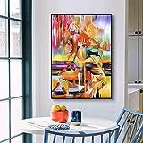 ganlanshu Impresión Mural sobre Lienzo, Dibujo de Figuras, Imagen Abstracta de Belleza para la decoración del hogar de la Sala de Estar,Pintura sin marco-30X45cm
