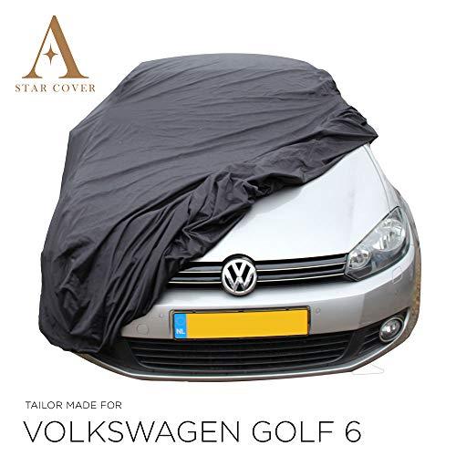 AUTOABDECKUNG SCHWARZ PASSEND FÜR Volkswagen Golf 6 WASSERDICHT AUSSEN VOLLGARAGE IM FREIEN Cover SCHUTZDECKE