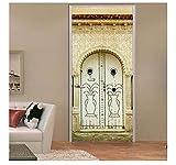 2 Unids/Set Cultura De Arabia Saudita Pegatinas Puerta Estilo Islam Etiqueta De La Pared Para Dormitorio Sala De Estar Decoración Cartel Pvc Etiqueta Impermeable 77X200Cm