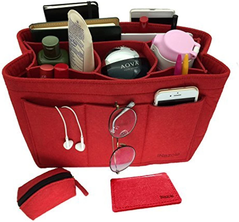 INazoie Felt Handbag Organizer Insert Purse Organizer Bag Fits Speedy Neverfull 3 color Medium Large XLarge