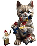 by Mark & Margot - Mischievous Cat Garden Gnome Statue Figurine - Best...