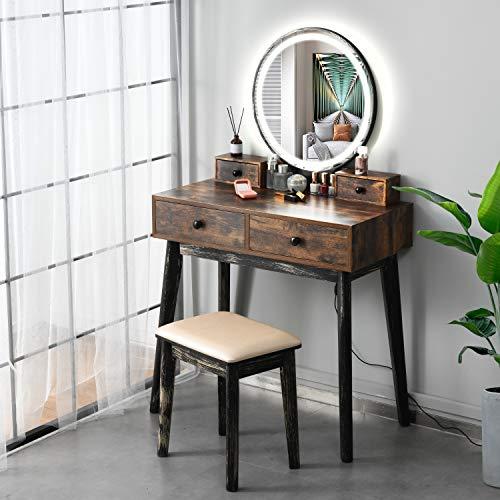 FREDEES Vanity Table Set, Makeup Table...