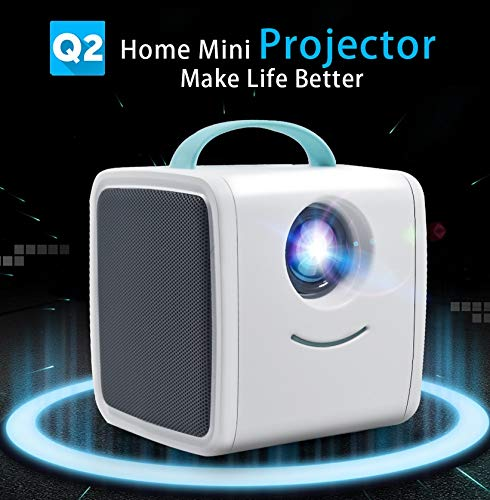 SSSabsir Mini Projector 700 Lumens Children Education Parent-child Portable Projector Mini LED TV Home Beamer Blue EU plug