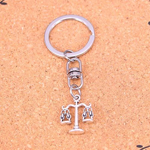 TAOZIAA metalen vintage Weegschaal gerechtigheid sleutelhanger accessoire en chroom sleutelhanger