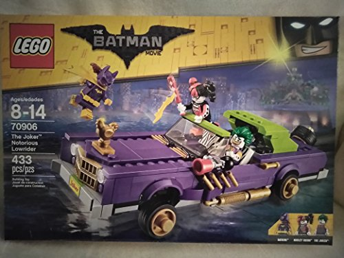 Lego The Batman Movie The Joker Notorious Lowrider With Figures: Batgirl, Harley Quinn, and The Joker 433 PCS 70906 Ages 8-14 New In Unopened Box