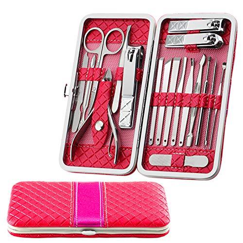 Fixget 18 Set de Manicura Pedicura Kit de uñas deAcero Inox