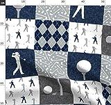 grau, modisch, Junge, Wholecloth, Golf, Golfball, Design