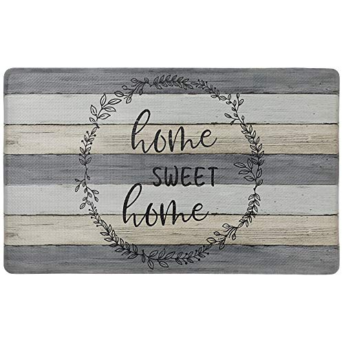 SoHome Cozy Living Anti-Fatigue Kitchen Mat For Floor, Farmhouse Rustic Wood Themed Cushioned Kitchen Runner Rug Mat, Stain Resistant, Easy Wipe Clean, 1/2 Inch Thick, 18' x 30', Brown