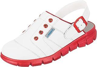 Abeba Clog 7368 Dynamic - Microfibra certificata bianco/rosso