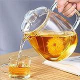 Tetera para el hogar Teaware Tetera de vidrio para estufa, resistente al calor, alta temperatura, a prueba de explosiones, infusor de té de leche y rosa (color: 600 ml)