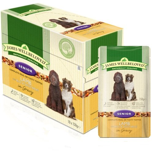 James Wellbeloved Hundefutter Hund Senior Lamb Beutel,10er Pack (10 x 150 g)