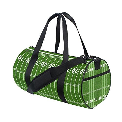 COOSUN American Football Field Duffle Bag Handlich Sports Gym Bags Schultertasche für Männer und Frauen