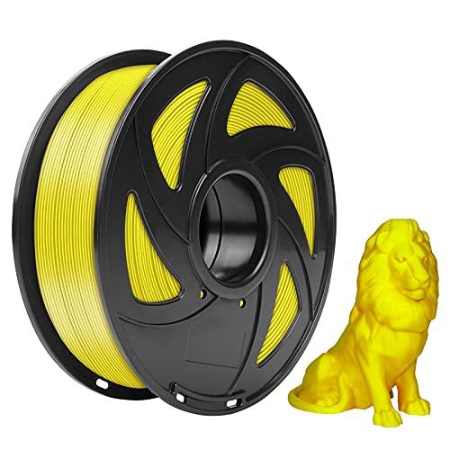 LOTMAXX 3D Printer PLA Filament 1.75m, Dimensional Accuracy: +/- 0.02mm, 1kg Spool (2.2lbs) (Yellow)
