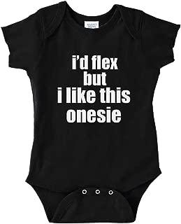 I'd Flex But I Like This Bodysuit Funny Baby Bodysuit Infant