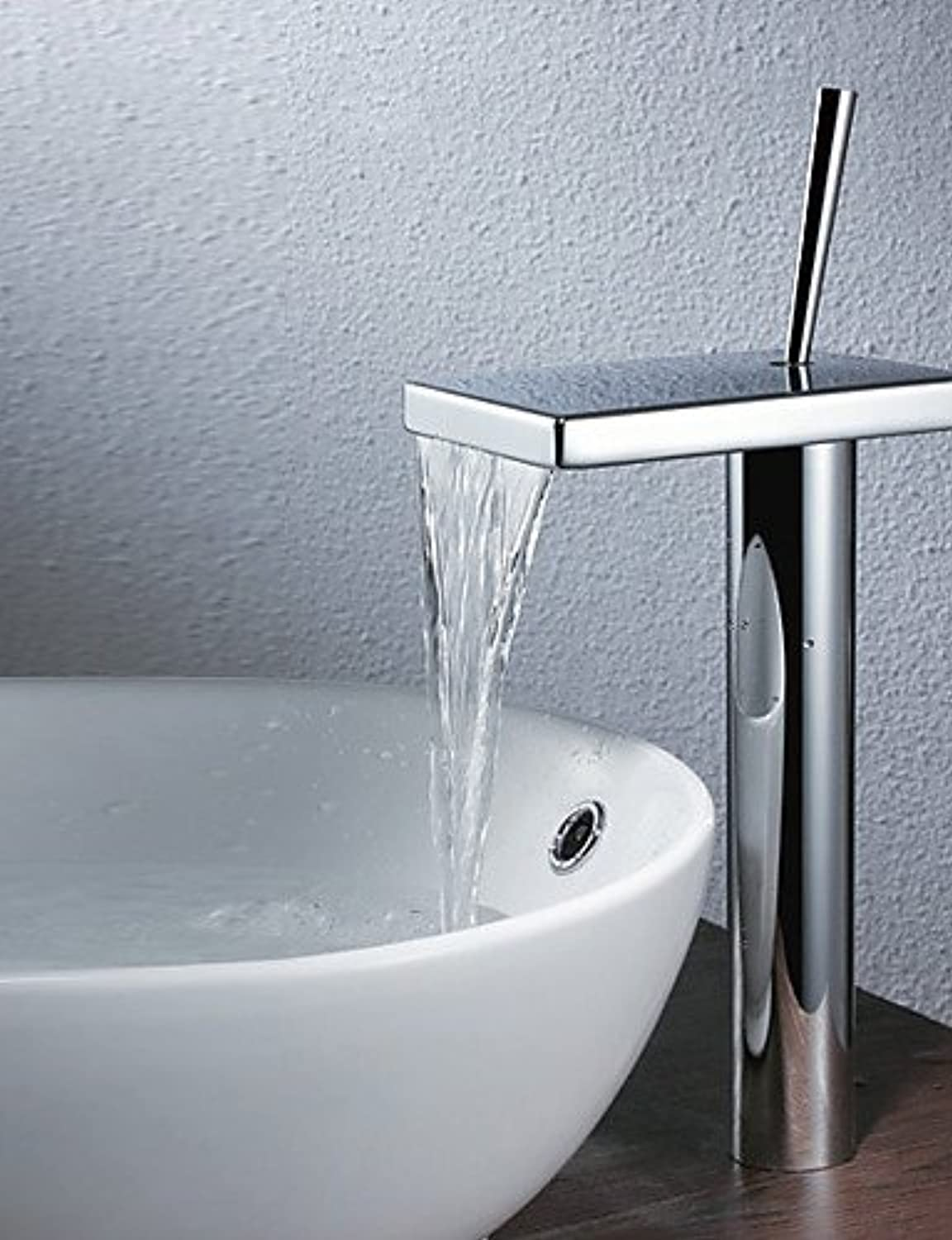 - Bathroom Sink Faucets Contemporary Waterfall Brass Chrome