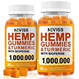 (2 Pack) Hemp Gummiés with Turmeric & Bioperine 1000000, 100% Organic Natural Hemp Gummiés Made in USA