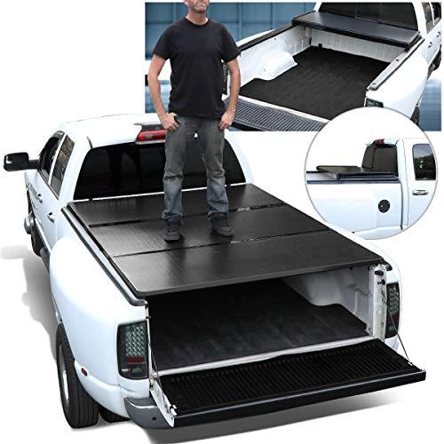 DNA Motoring TTC-HARD-045 Pickup Truck Bed Top Hard Solid Tri-Fold Tonneau Cover For 05-18 Frontier 5Ft Fleetside Bed