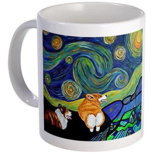 CafePress Corgi Starry Night Mug Mugs Unique Coffee Mug, Coffee Cup