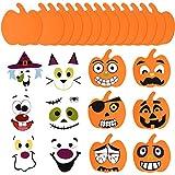 16 Piezas Kit de Manualidades de Calabazas de Espuma de Halloween y 16 Pegatinas de Espuma de...