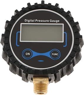 figatia Medidor digital de inflador de pneu com tela LCD grande e visor digital