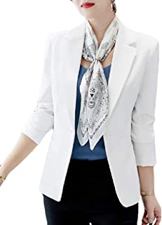 Mogogo Women's Short Slim Fit Solid Work Casual Jacket Coat Small Blazer