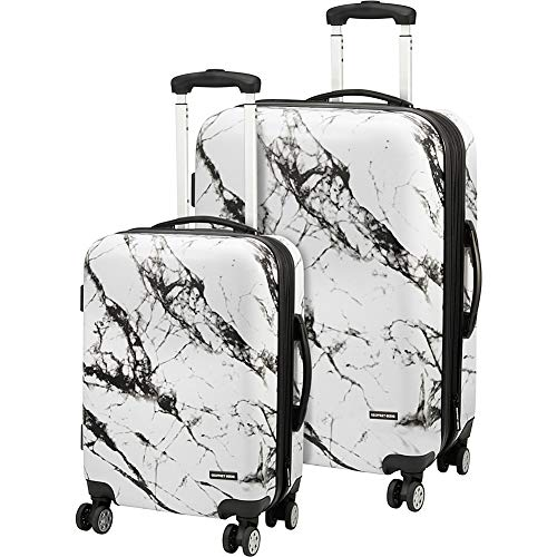 Geoffrey Beene Luggage Deep Marble 2 Piece Hardside Spinner Luggage Set (Black