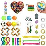 Jiahuade Fidget Sensory Toys,Stress Relief Toys,Juguetes Antiestrés Sensoriales,Juguetes Antiestrés para Niños,Juguetes de Fidget,Juguetes Sensoriales Kit,Juguetes Autismo