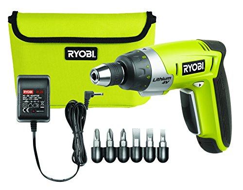 Ryobi CSD4107BG - Destornillador (Ión de litio, 4V, 4,5h, 440g) Negro, Verde