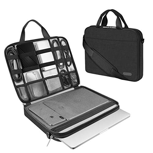 ARVOK 13 13.3 14 Inch Laptop Sleeve and Accessory Case with Strap & Handle, Notebook Computer Case Briefcase Carrying Bag for for Acer/Asus/Dell/Lenovo/HP (13.3 inch, Black)