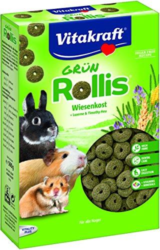 Vitakraft Grün-Rollis, Wiesenkost für Nager, 500g