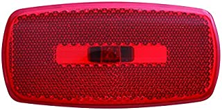 Optronics MC32RBS Mark Light Oval Black Base Red