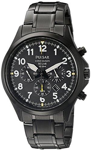[パルサー]Pulsar 腕時計 Solar Chronograph Analog Display Japanese Quartz Black Watch PX5039 メンズ [並行輸入品]