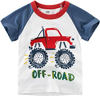 Mornyray Baby Kids Boys Truck Print Summer T-Shirt Casual Cartoon Short Sleeve Tee