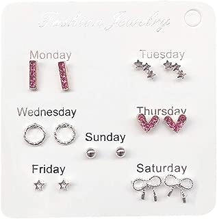 Ladies Girls Earrings Women Creative Porous Fishtail Fruit Set Geometric Irregular Leaf Flower Earrings Set Stud Earrings Jewelry Simple Travel Set Earrings