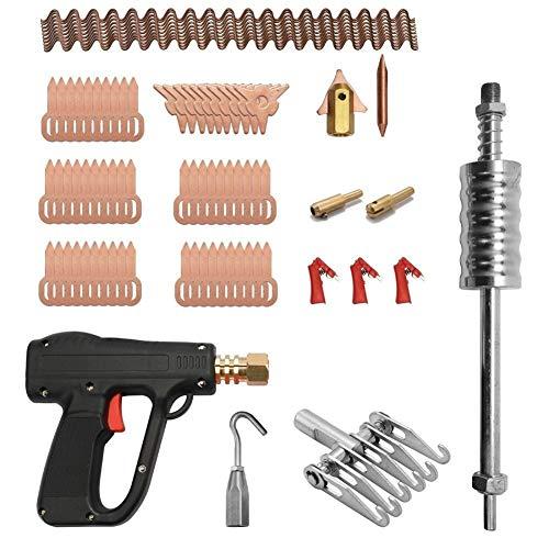 81pcs Dent Extractor Car Kit Reparación de carrocerías de Herramientas de soldadura por electrodos Spotter soldador máquina de eliminación de abolladuras Straightenging removedor de dispositivos Paint