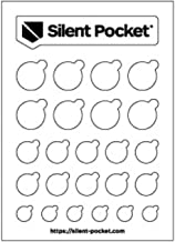 Silent Pocket Webcam Privacy Stickers for Camera Lens Privacy (White Out)
