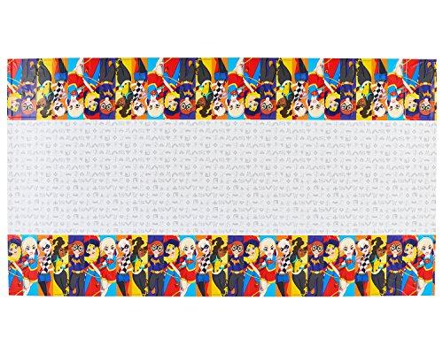 Amscan International 571609 1,37 x 2,43 m DC Super Héros Filles Housse de Table en Plastique